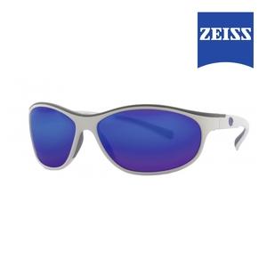 Image of Lenz Discover Coosa Sunglasses - White / Gun Blue Mirror