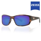 Image of Lenz Helmsdale Acetate Sunglasses - Havanna Brown / Blue Mirror