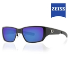 Image of Lenz Ponoi Titanium / Carbon Sunglasses - Black / Blue Mirror