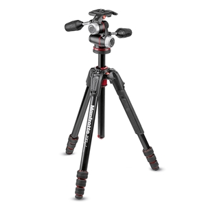 Image of Manfrotto MK190GOA4-3WX 190 Go! MS Aluminium 4 Section Tripod Kit With XPRO 3-Way Head