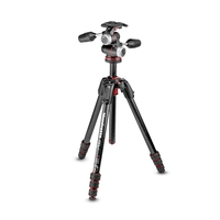Manfrotto MK190GOC4-3WX 190 Go! MS Carbon Fibre 4 Section Tripod Kit With XPRO 3-Way Head