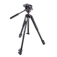 Manfrotto 190X 3-Section Aluminium Tripod with XPRO Fluid Video Head