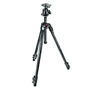 Image of Manfrotto MK290XTC3-BH 290 XTRA Carbon Fibre 3 Section Tripod Kit With Ball Head