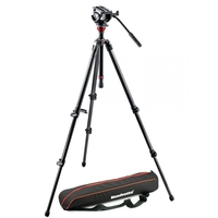 Manfrotto 755CX3 Single Leg Carbon Fibre Tripod with MVH500 Fluid Video Head
