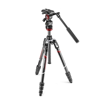 Manfrotto Befree Live Carbon Fibre Tripod Twist With Befree Live Fluid Video Head (MVH400AH) & Tripod Bag