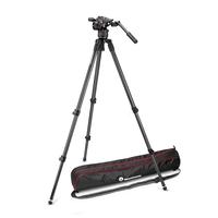 Manfrotto MVKN8C Nitrotech N8 Fluid Video Head & 535 Single Leg Tripod