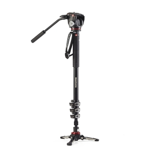 Image of Manfrotto MVMXPROA42W XPRO 4 Section Video Monopod With Two Way Head And Fluidtech Base