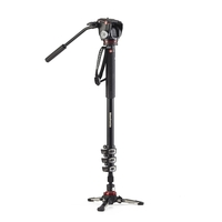 Manfrotto MVMXPRO500 XPRO 4 Section Video Monopod With Fluid Head And Fluidtech Base