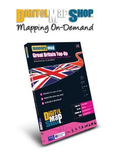 Image of Memory Map Digital Map Shop OS Landranger 1:50000 £50 Top Up Voucher