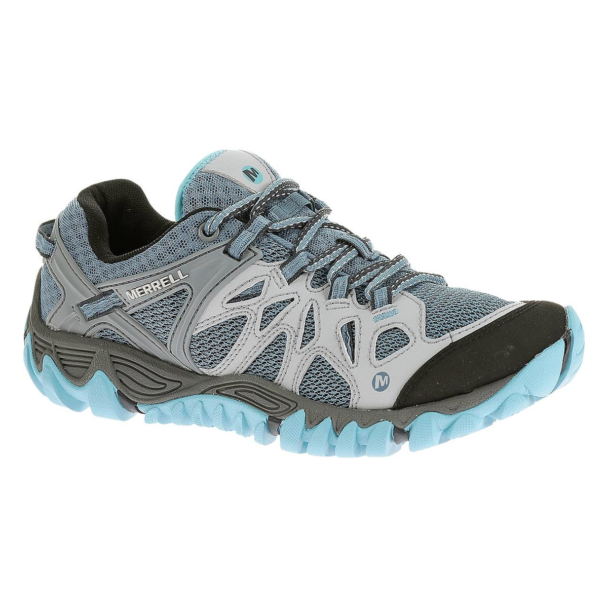 high quality factory authentic select for original Merrell All Out Blaze Aero Sport Walking Shoes (Women's) - Blue Heaven