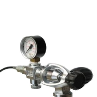 Midland Diving Equipment A-Clamp Charging System with Gauge, Bleed and 500mm Anti Kink DIN Hose