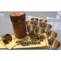 Napier Peg Finder Tumbler Set in Leather Case