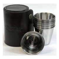 Napier Peg Finder Tumbler Set in Leather Case - 2019 Edition
