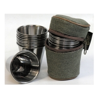 Napier Peg Finder Tumbler Set in Grey Canvas Case - 2019 Edition