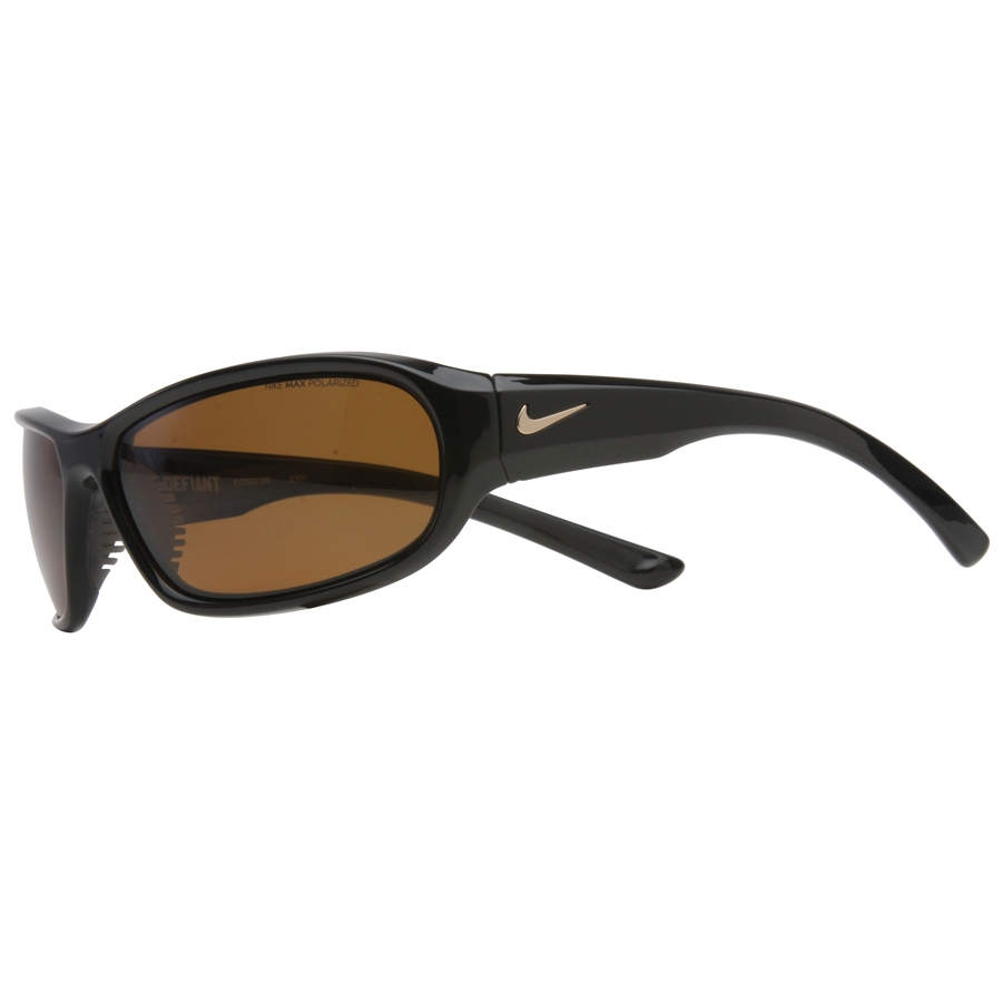 14dee57eeef Image of Nike Defiant Men s Polarized Sunglasses - Black Brown Max  Polarized Lens