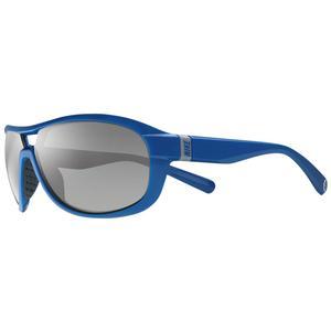 Image of Nike Miler Men's Sunglasses - Deep Royal / Grey with Silver Flash