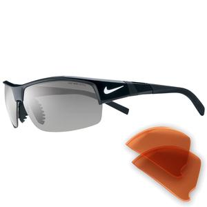 Image of Nike Show-X2 Men's Sunglasses - Black / Grey and Orange Blaze