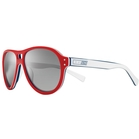 Image of Nike Vintage 81 Men's Sunglasses - Red, White / Grey with Silver Mirror