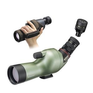 Image of Nikon Fieldscope ED50 Angled Spotting Scope, 13-40x MKII Eyepiece & Hand Hold Case - Green