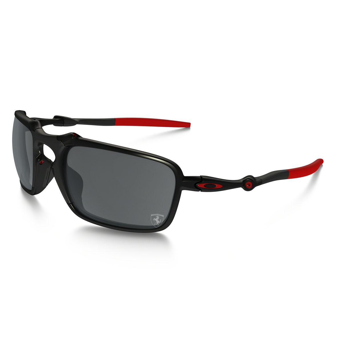 eaa541df78 Image of Oakley Badman Scuderia Ferrari Collection Polarized Sunglasses -  Dark Carbon Frame Black Iridium