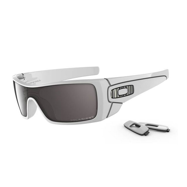 79c75dd5f9 Image of Oakley Batwolf Sunglasses - Polished White (Frame)   OO Black  Iridium Polarized