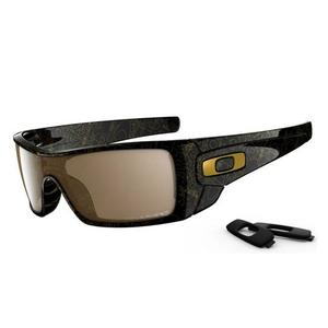 bc51e863f8 Image of Oakley Batwolf Men s Polarized Sunglasses - Black Gold Ghost Text   Tungsten Iridium Polarized