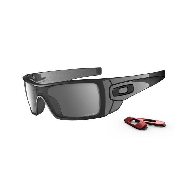 87d6960e62 Image of Oakley Batwolf Sunglasses - Granite (Frame)   Black Iridium  Polarized (Lens