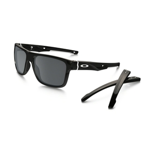 Image of Oakley Crossrange Sunglasses - Polished Black / Black Iridium