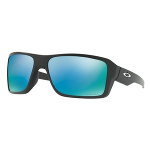 Image of Oakley Double Edge Prizm Deep Water Polarized Sunglasses - Matte Black/PRIZM Deep Water Polarized