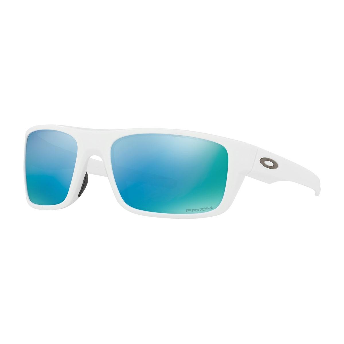 479fb85c05eb Image of Oakley Drop Point Prizm Polarised Sunglasses - Polished White  Frame PRIZM Deep Water