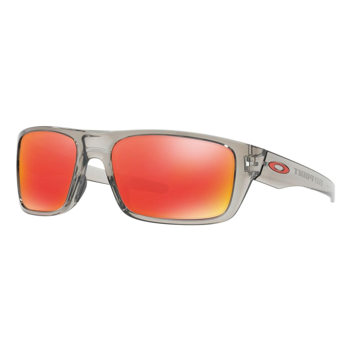 Oakley Drop Point >> Oakley Drop Point Sunglasses Grey Ink Frame Ruby Iridium Lens