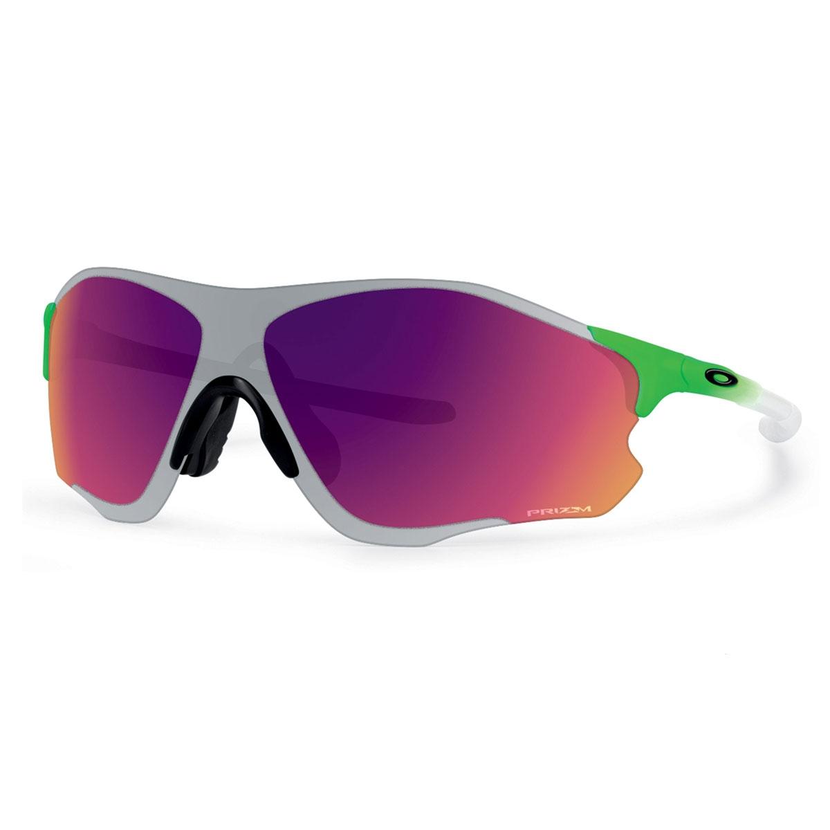 c681085da02 Image of Oakley EVZero Path Prizm Field Chrome Iridium Sunglasses - Green  Fade Frame