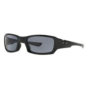 Image of Oakley Fives Squared Men's Sunglasses - Polished Black / Grey