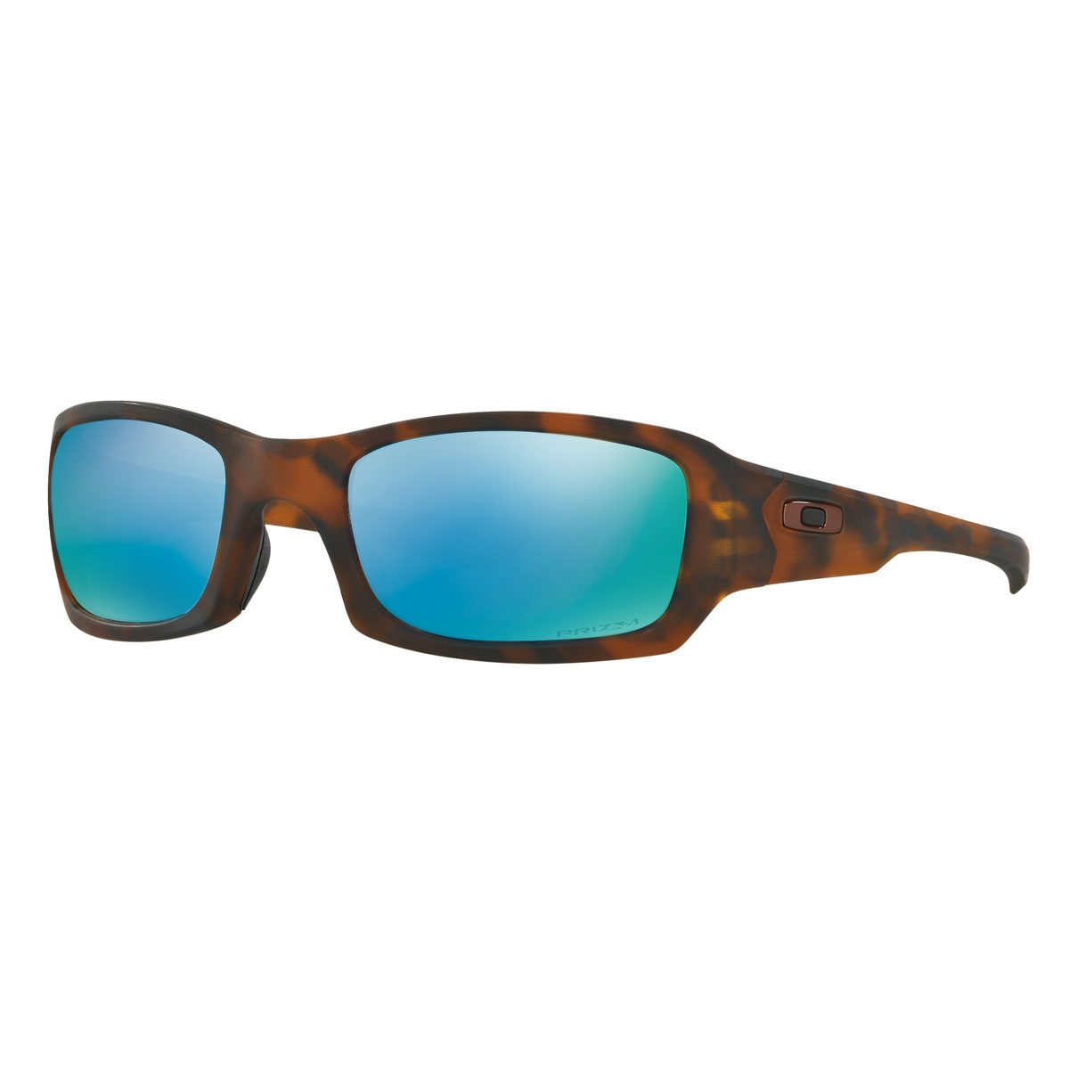 764fe48ee39 Image of Oakley Fives Squared Prizm Deep Water Polarized Men s Sunglasses -  Matte Tortoise Frame  ...