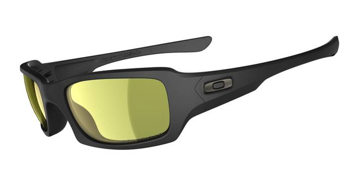 14372769c64 Image of Oakley Polarized Fives Squared Fishing Specific Sunglasses - Matte  Black (Frame)