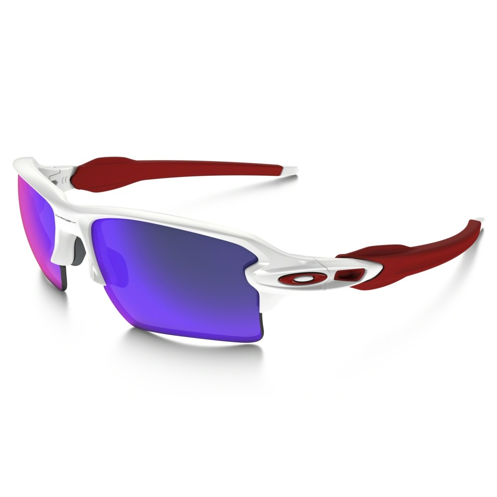 96f94d47abf18 Image of Oakley Flak 2.0 XL Sunglasses - Polished White Frame Positive Red  Iridium Lens