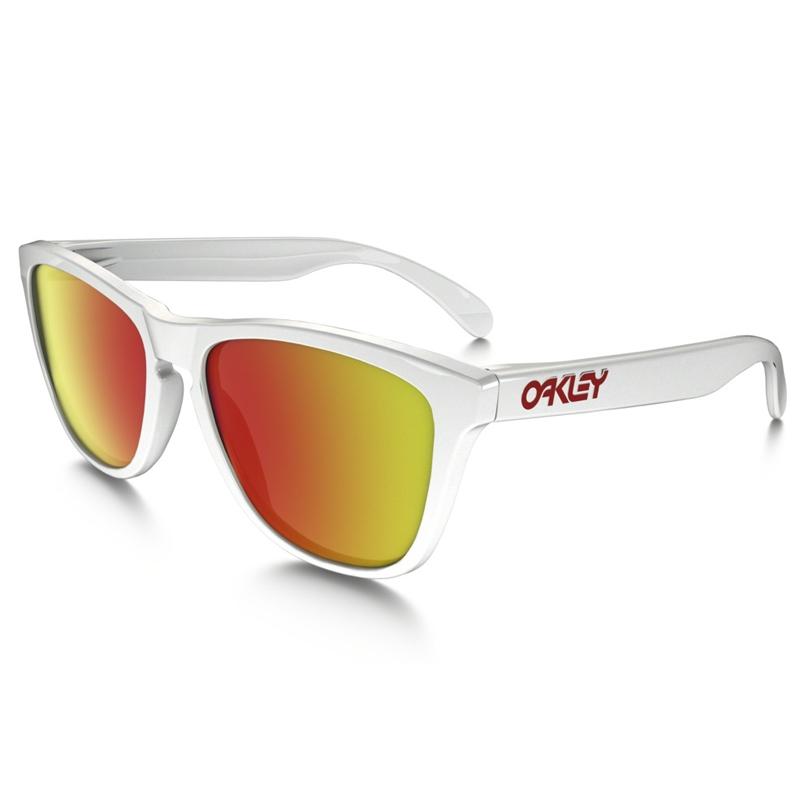 9aea9a7497ba ... czech image of oakley frogskin sunglasses polished white ruby iridium  257fa d3d03