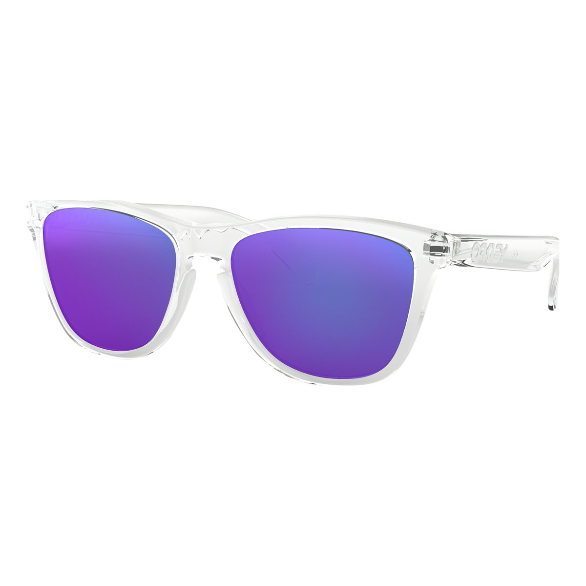 7c469dfecb57 Image of Oakley Frogskins Men's Sunglasses - Polished Clear Frame/Violet  Iridium Lens