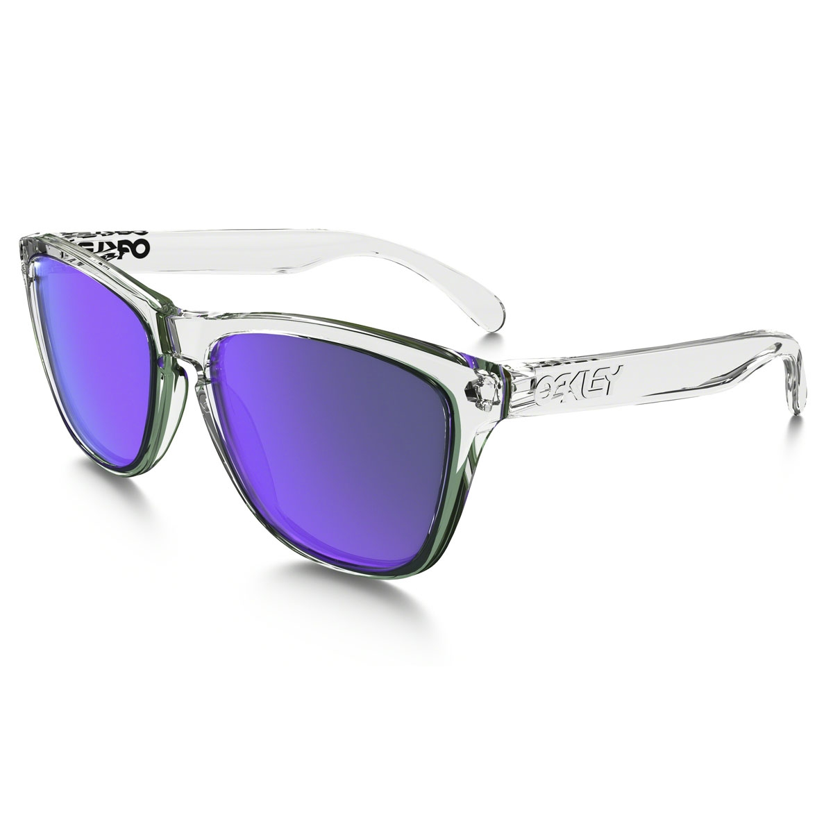 Oakley Frogskins Men\'s Sunglasses - Polished Clear Frame/Violet ...