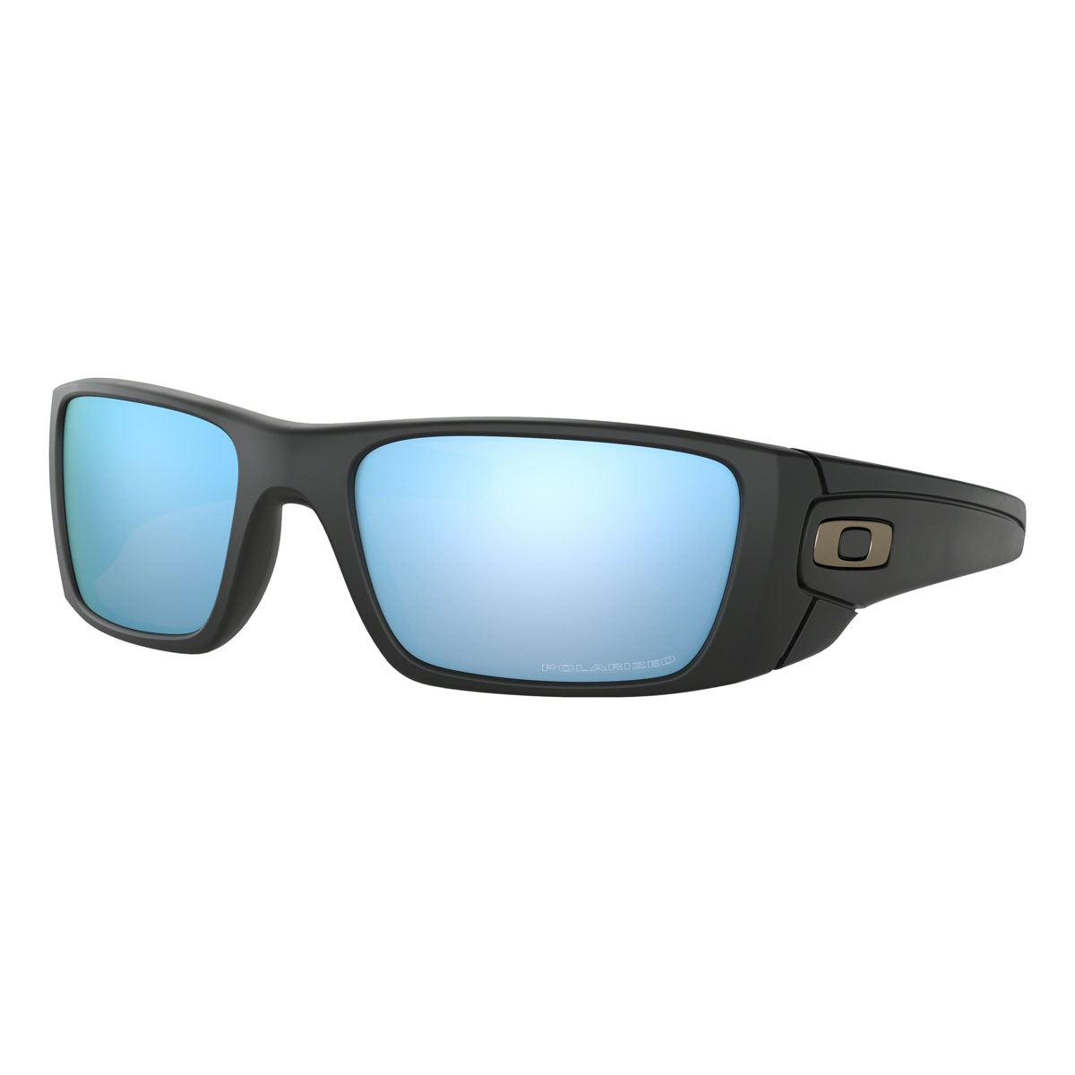 45dbfc3cfc05 Image of Oakley Fuel Cell Men s Polarized Sunglasses - Matte Black  Frame Prizm Deep Blue