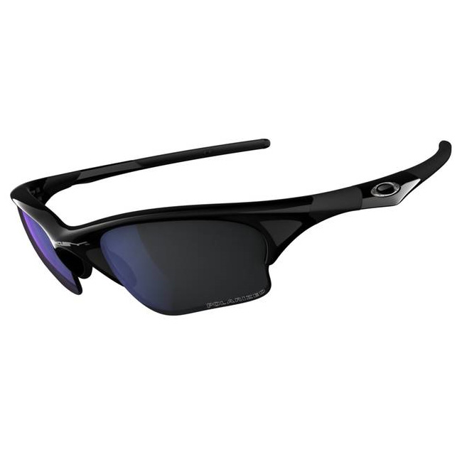 7f23880e289 Image of Oakley Polarized Half Jacket XLJ Fishing Specific Sunglasses - Jet  Black (Frame)