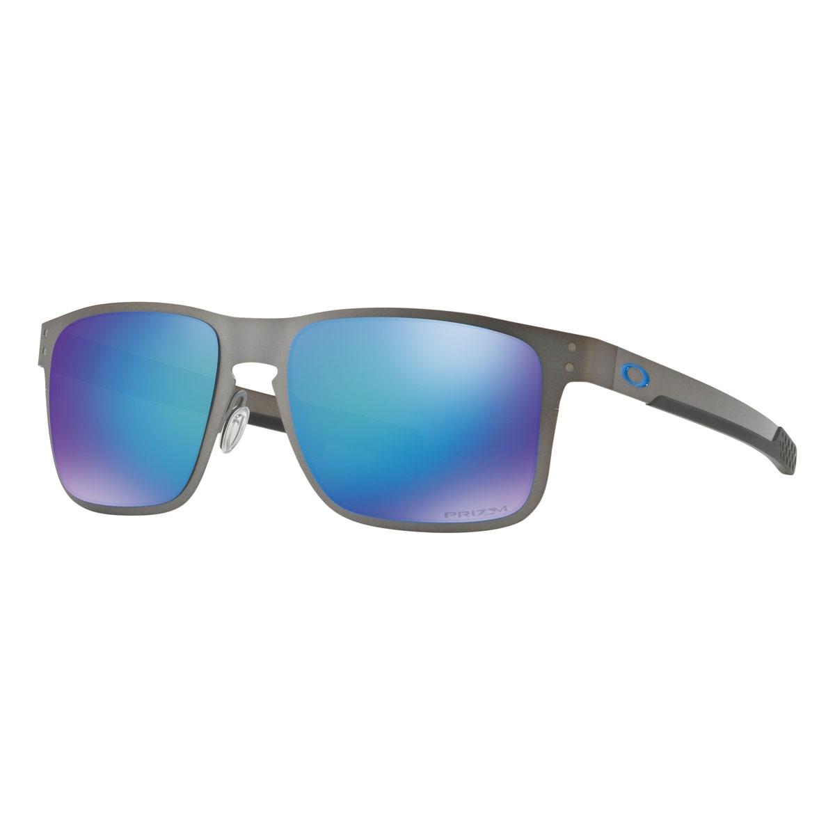 6b57accd87 Image of Oakley Holbrook Prizm Polarised Metal Sunglasses - Matte Gunmetal  Frame Prizm Sapphire Polarised