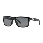 Image of Oakley Holbrook Sunglasses - Polished Black Frame/Grey Polarized Lens