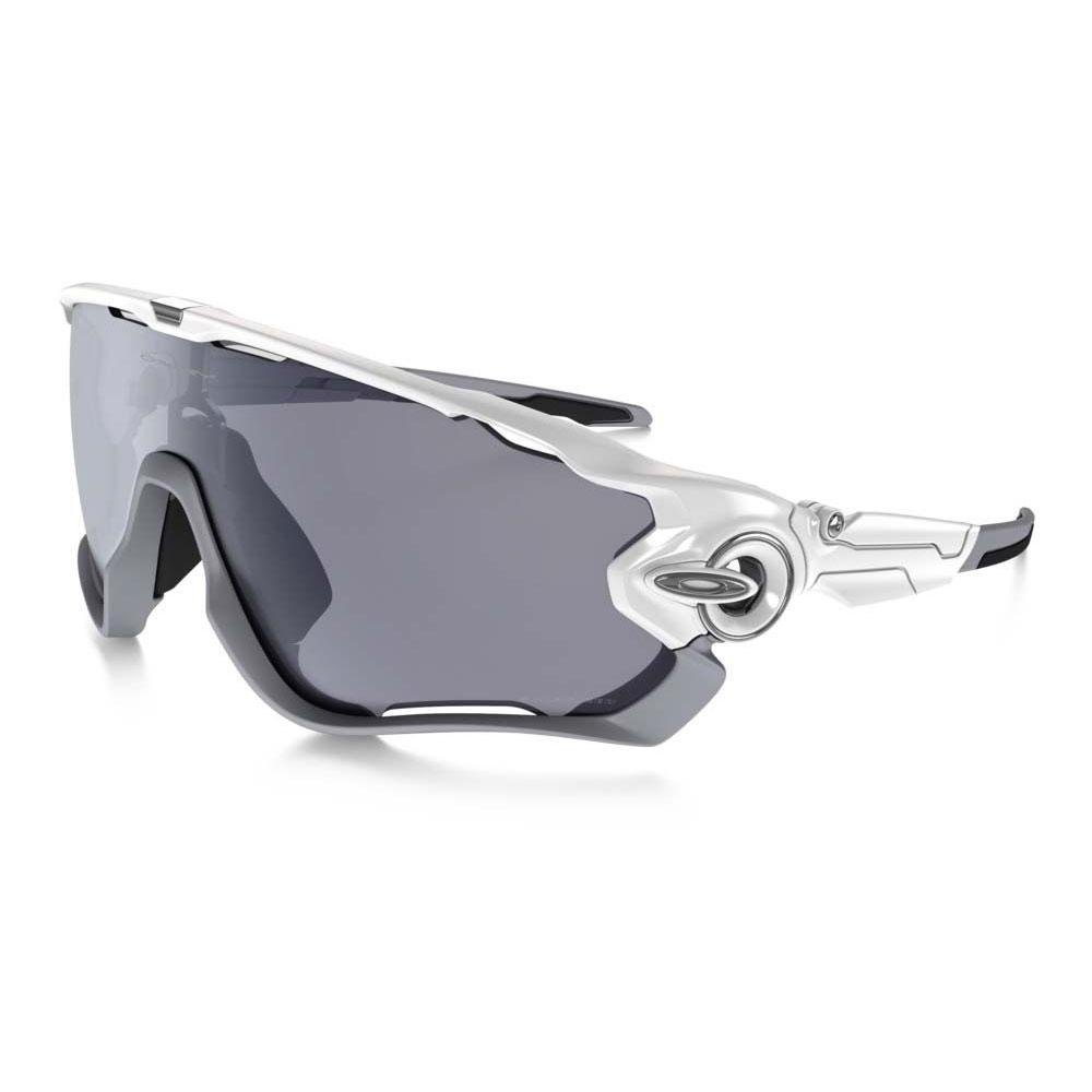 8481d620f0 Image of Oakley Jawbreaker Men s Polarized Sunglasses - Polished White   Grey  Polarized