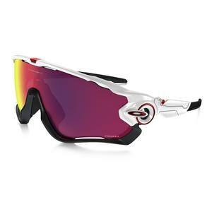 Image of Oakley Jawbreaker Men's Sunglasses - Polished White / Prizm Road