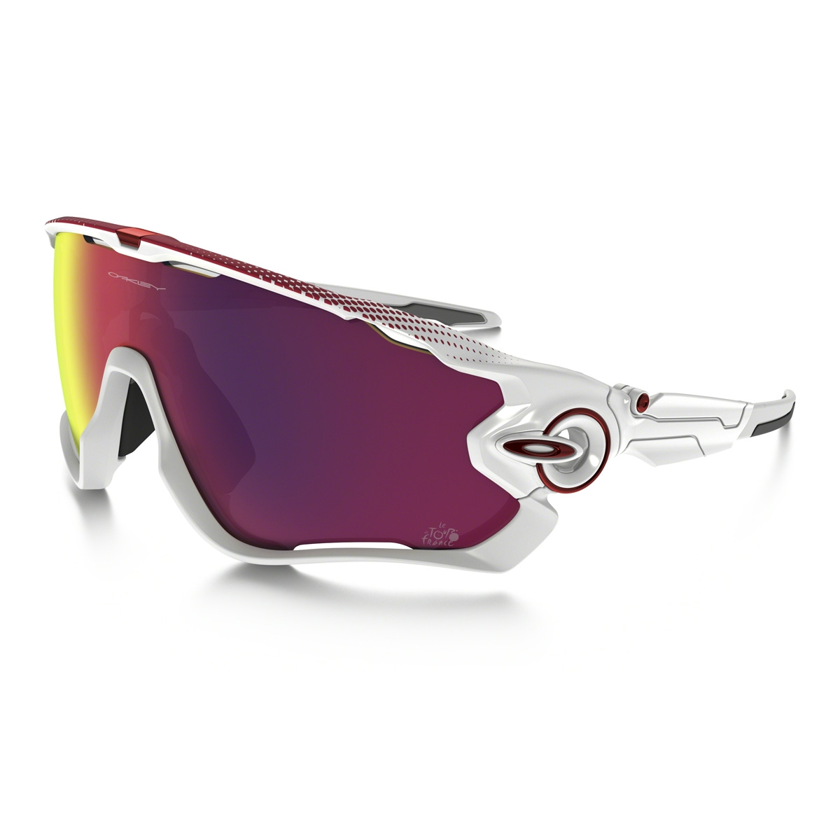 Image of Oakley Jawbreaker Prizm Road Tour De France Sunglasses - Polished  White Frame   Prizm 9bead710a9