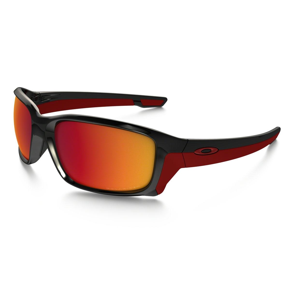 455cbb48dfe Image of Oakley Straightlink Polarized Men s Sunglasses - Polished Black  Frame Torch Iridium Polarized Lens
