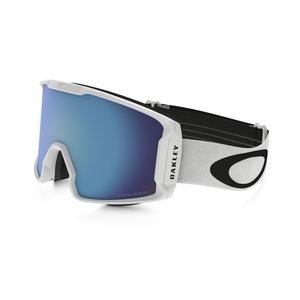 Image of Oakley Line Miner Ski Goggles - Factory Pilot Whiteout Frame/Prizm Sapphire Iridium Lens