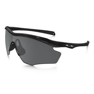 Image of Oakley M2 Frame XL Polarized Sunglasses - Polished Black Frame/Black Iridium Polarized Lens