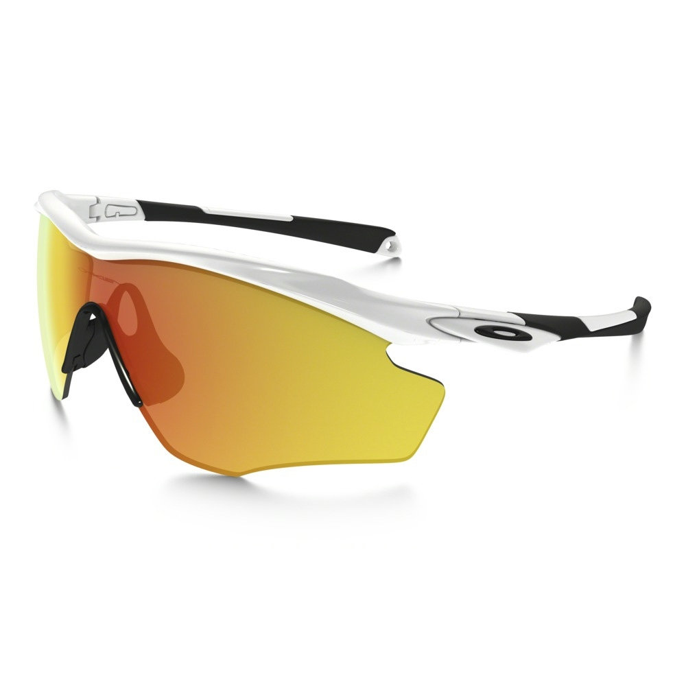6d4d7dc45c Image of Oakley M2 Frame XL Sunglasses - Polished White Frame Fire Iridium  Lens